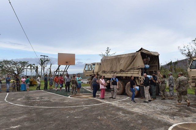 Hurricane Maria relief in Utuado, Puerto Rico
