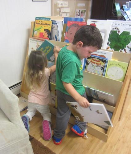 organizing the books