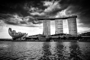 Marina Bay, Singapore / SML.20150128.6D.33824.BW1
