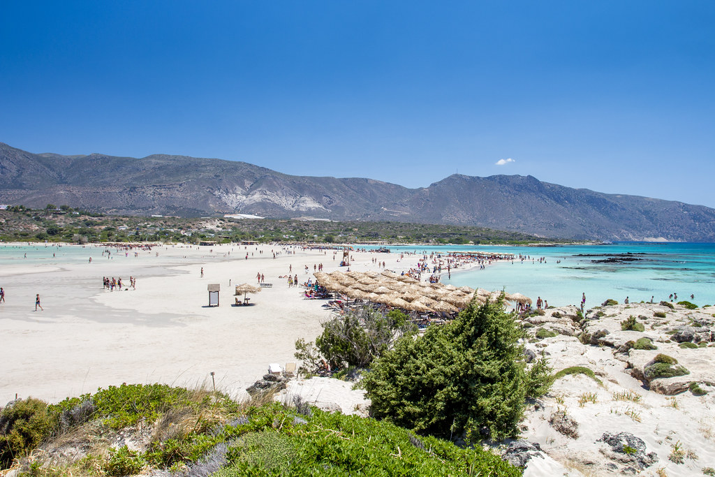 Elafonisi Beach panorama - Crete, Greece