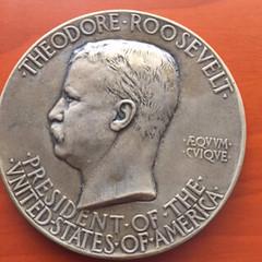T. Roosevelt 2nd inaurgural medal, 1905 obverse