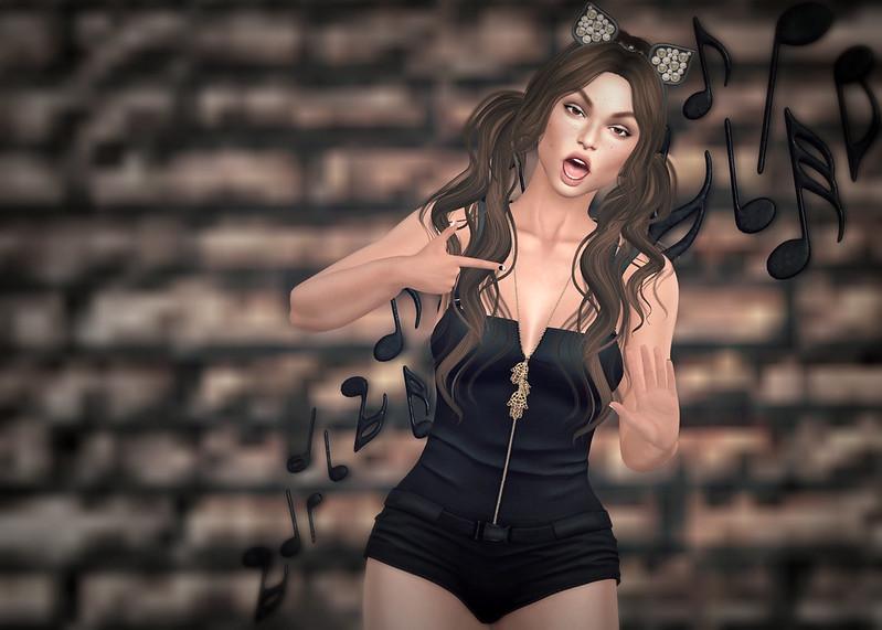 Kitty kat, meow, meow, meow, meow, meow