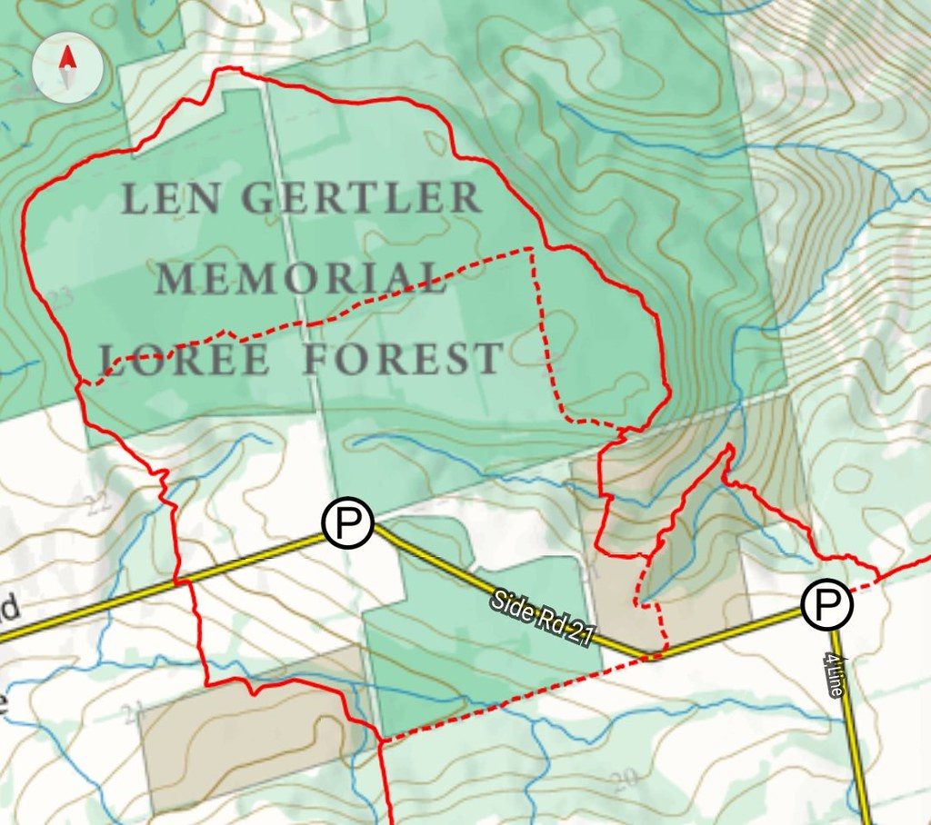 Len Gertler Memorial Loree Forest Map