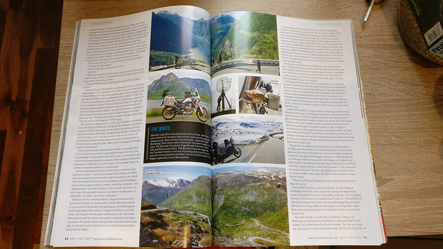 Adventure Bike Rider magazine Norway article.