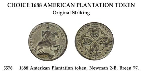 1688 American Plantation token