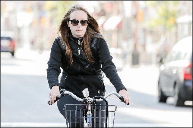 Bank Street Cyclist Lady