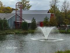 Water fountain at Lake Farmpark