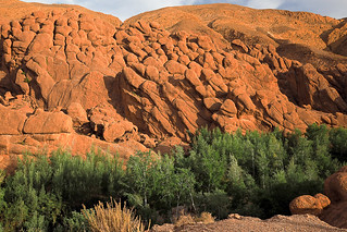 Dades gorges rock wall