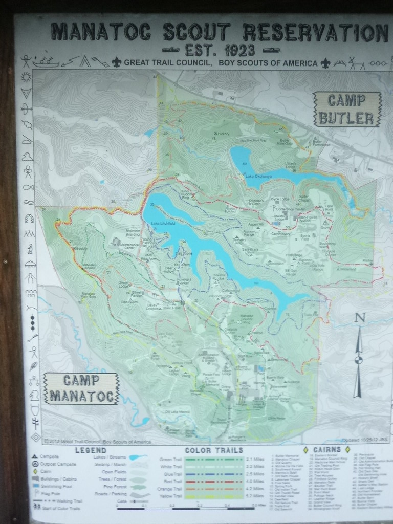 Boy Scout Reservation map