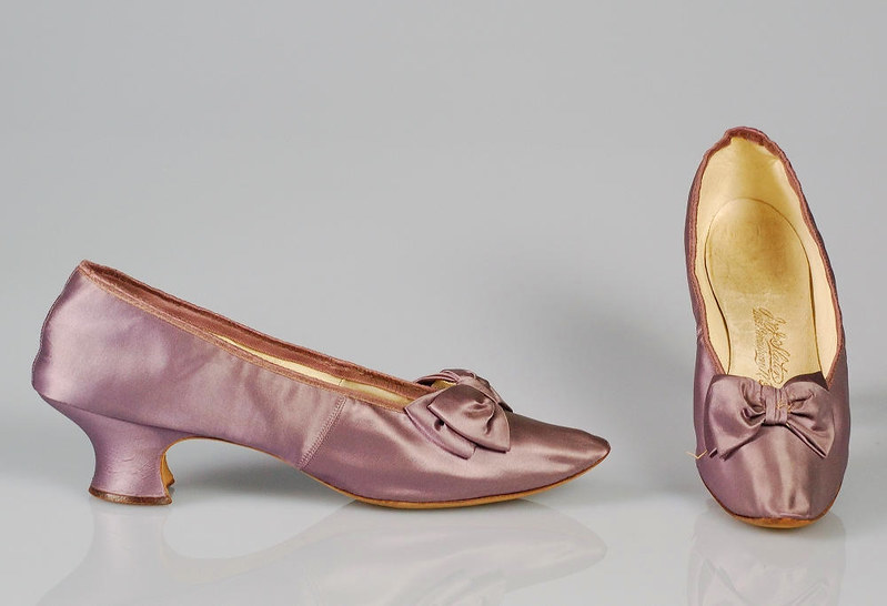 1894. Evening slippers. American. Silk