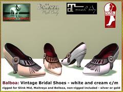 Bliensen - Balboa - shoe - white and creme