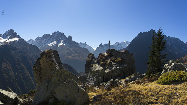 Part of the Mont-Blanc range with the
