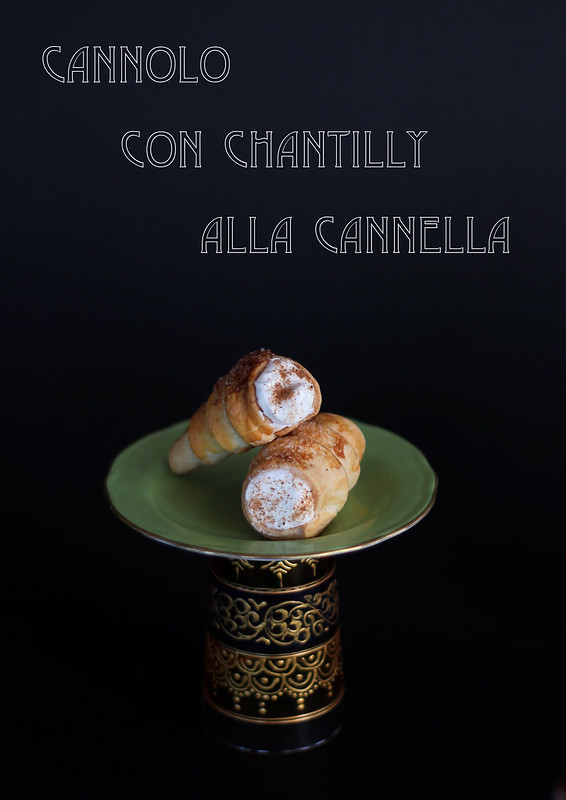 cannolo con chantilly alla cannella