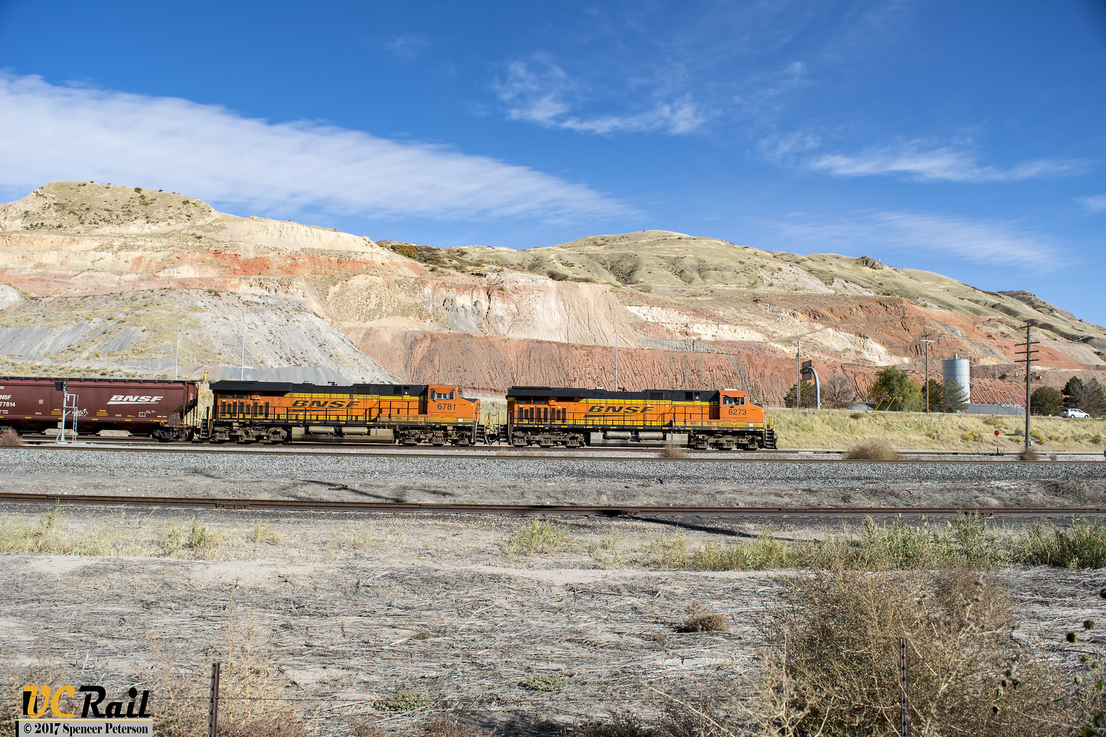 BNSF Empty Grain Train in Salt Lake City