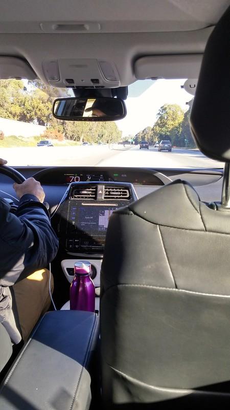 På väg till San Francisco i Uber