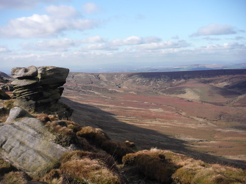 Upper Ashop Clough (Pennine Way runs along ridge)