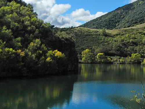 View on the drive to Mansilla de la Sierra in Spain