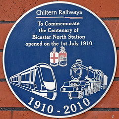 Photo of Bicester North Station blue plaque