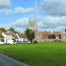 Long Melford Church and alms houses, Suffolk