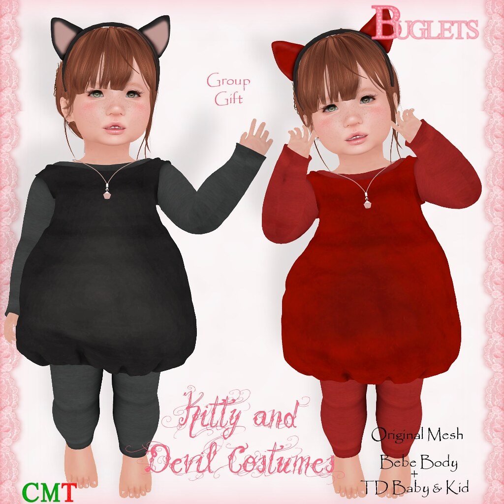 Kitty and Devil Costumes AD