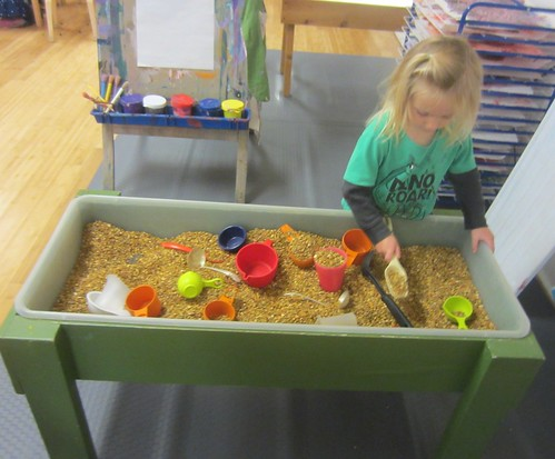rocks in the sensory table