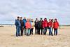 Unsere Gruppe, wir hatten uns in 3 Gruppne aufgeteilt, am Strand von Warnemünde