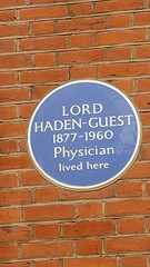 Photo of Leslie Haden-Guest blue plaque