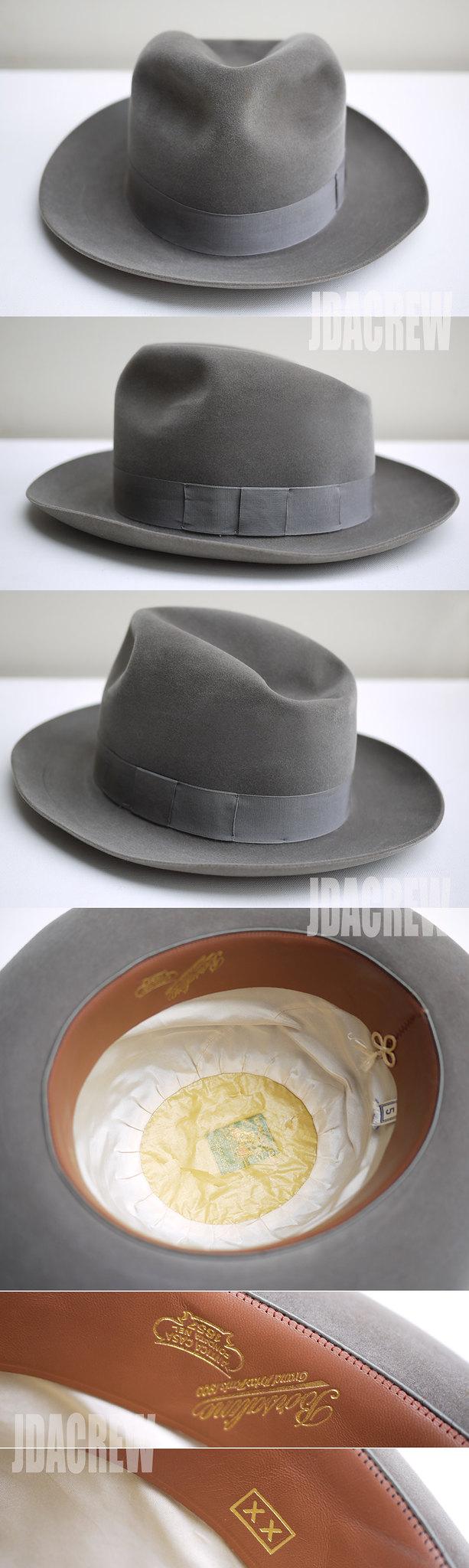 ボルサリーノ帽子ヴィンテージフェドラハット