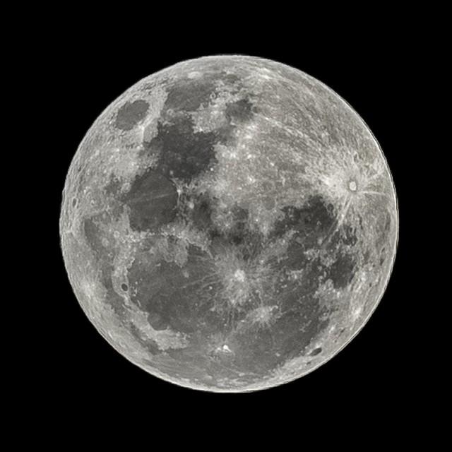 Stacked image of the full Moon - Barton - ACT - Australia - 20171104 @ 21:06