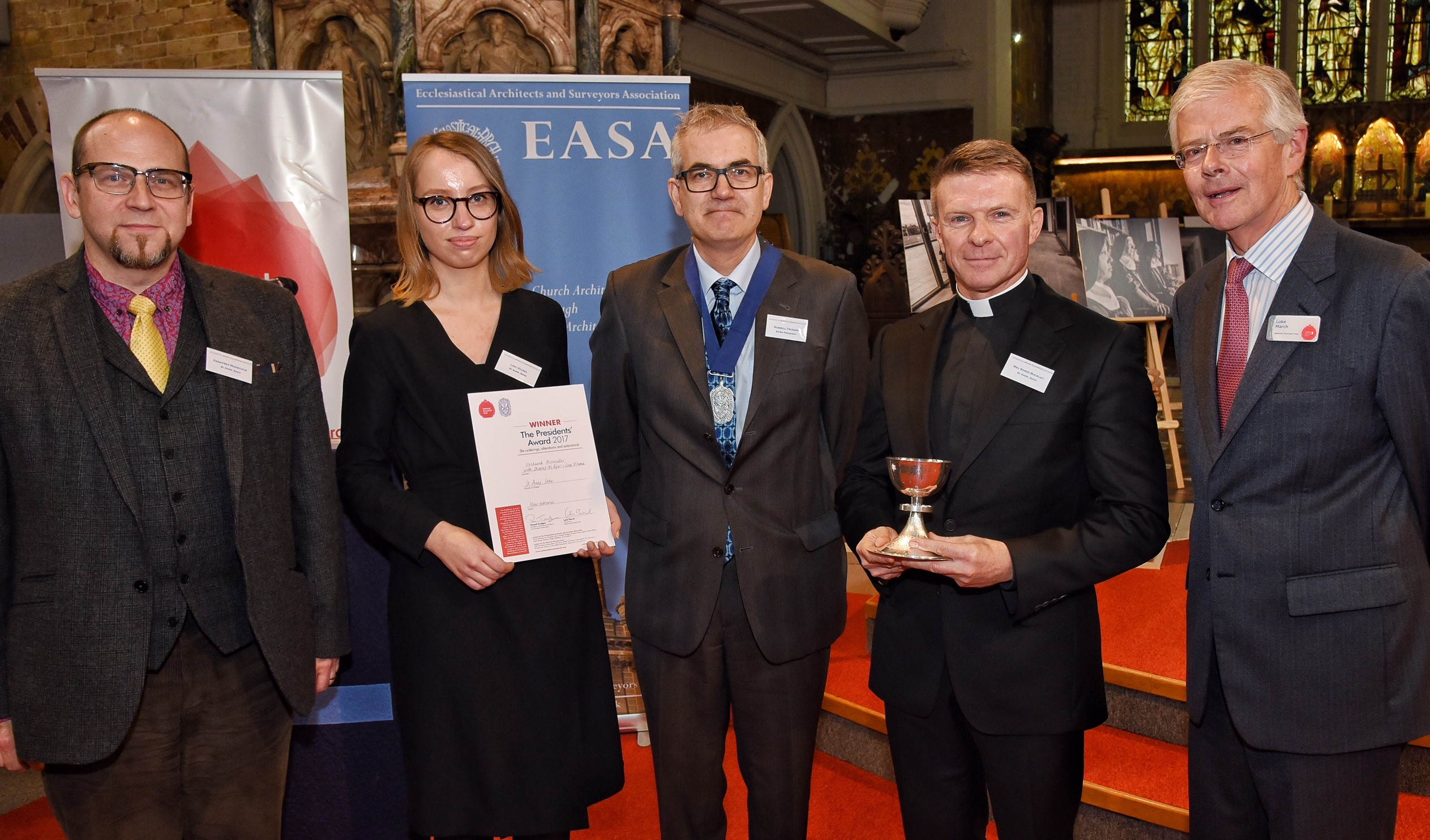 St Anne Soho and Upchurch Associates, winner of the Presidents' Award for re-ordering, extensions and alterations