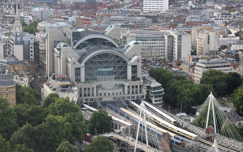 Charing Cross Station, seen from the London Eye