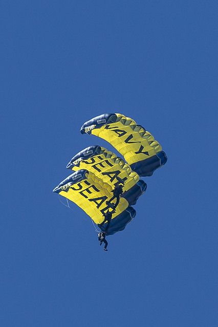 Leap Frogs the United States Navy Parachute Team