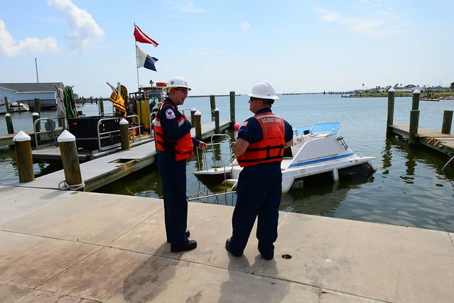Coast Guard and Local Agencies Remove Damaged Vessels from Harvey