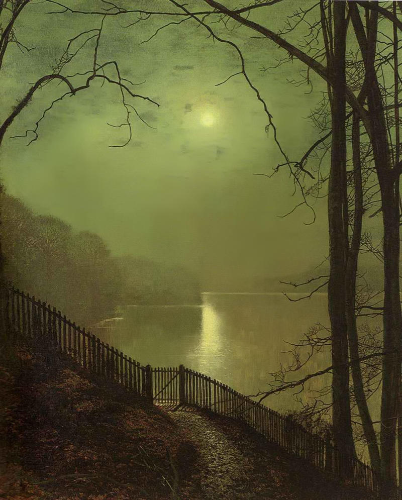 Moonlight on Lake by John Atkinson Grimshaw
