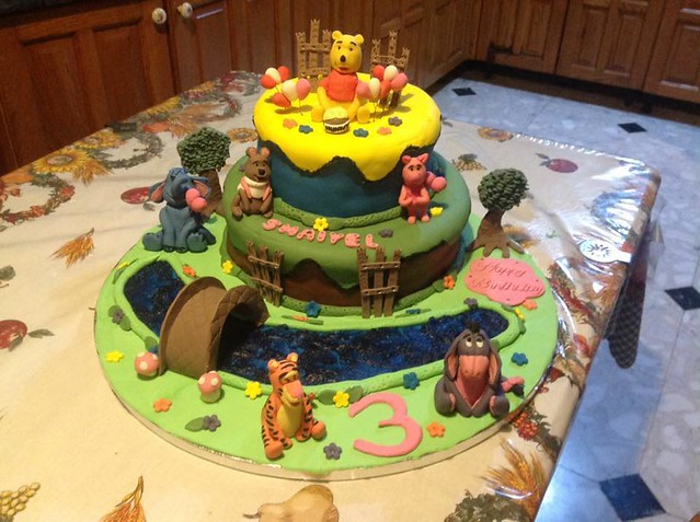 Winnie the Pooh and Friends Cake by Denise Camilleri