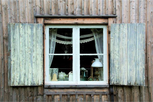 the window...............