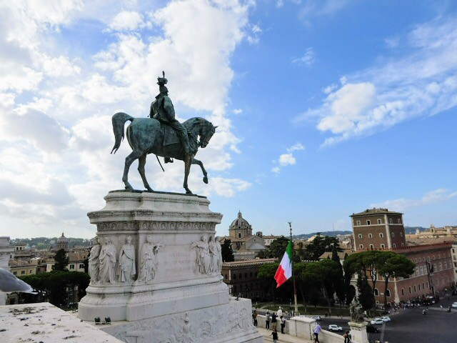 Monument of Victor Emmanuel II from The Roman Forum