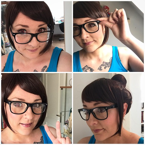 wig and makeup test for Mei / Overwatch
