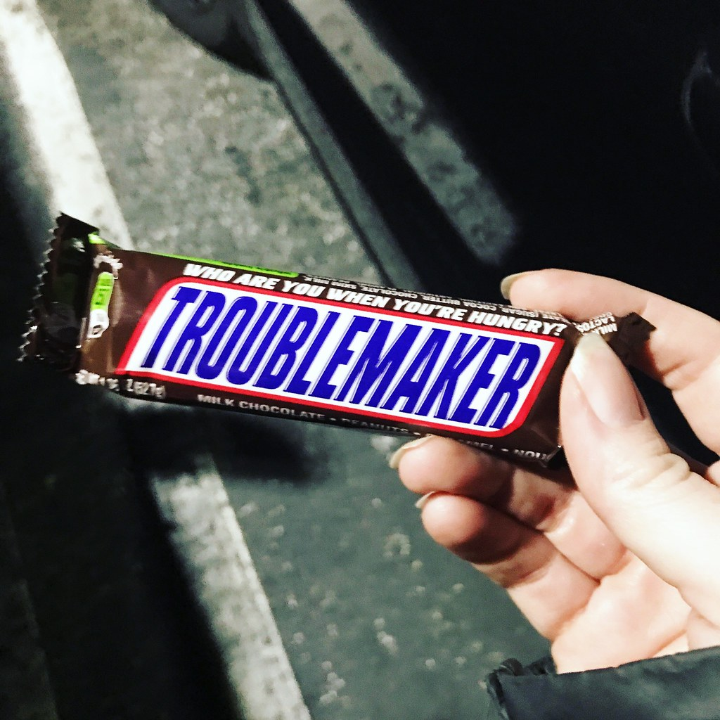 snickers bar trouble maker