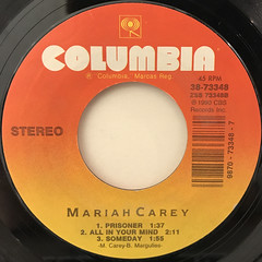 MARIAH CAREY:VISION OF LOVE(LABEL SIDE-B)