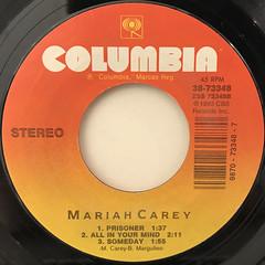 MARIAH CAREY:VISION OF LOVE(LABEL SIDE-B)