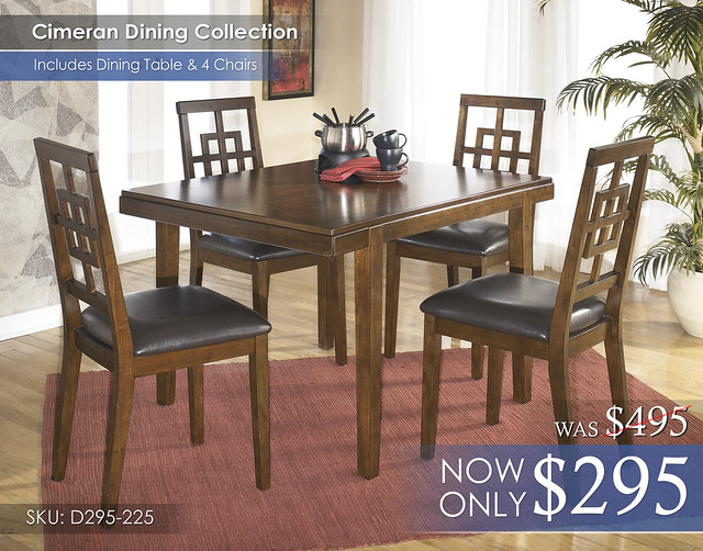 Cimeran Dining Set D295-225-SD