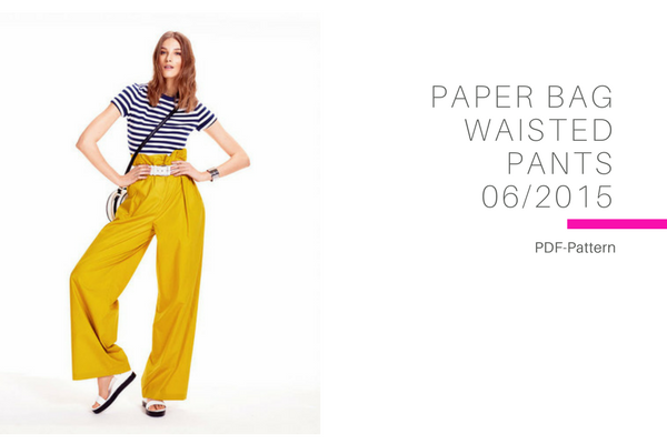 Paper bag waisted pants