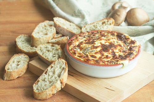 Truffled Hot Cheese Dip with Mushrooms