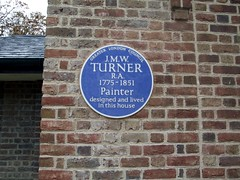 Photo of Joseph Mallord William Turner blue plaque