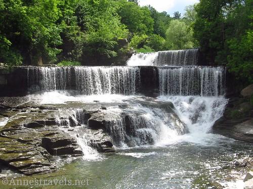 Seneca Mills Falls along the Keuka Outlet Trail between Penn Yan and Dresden, New York