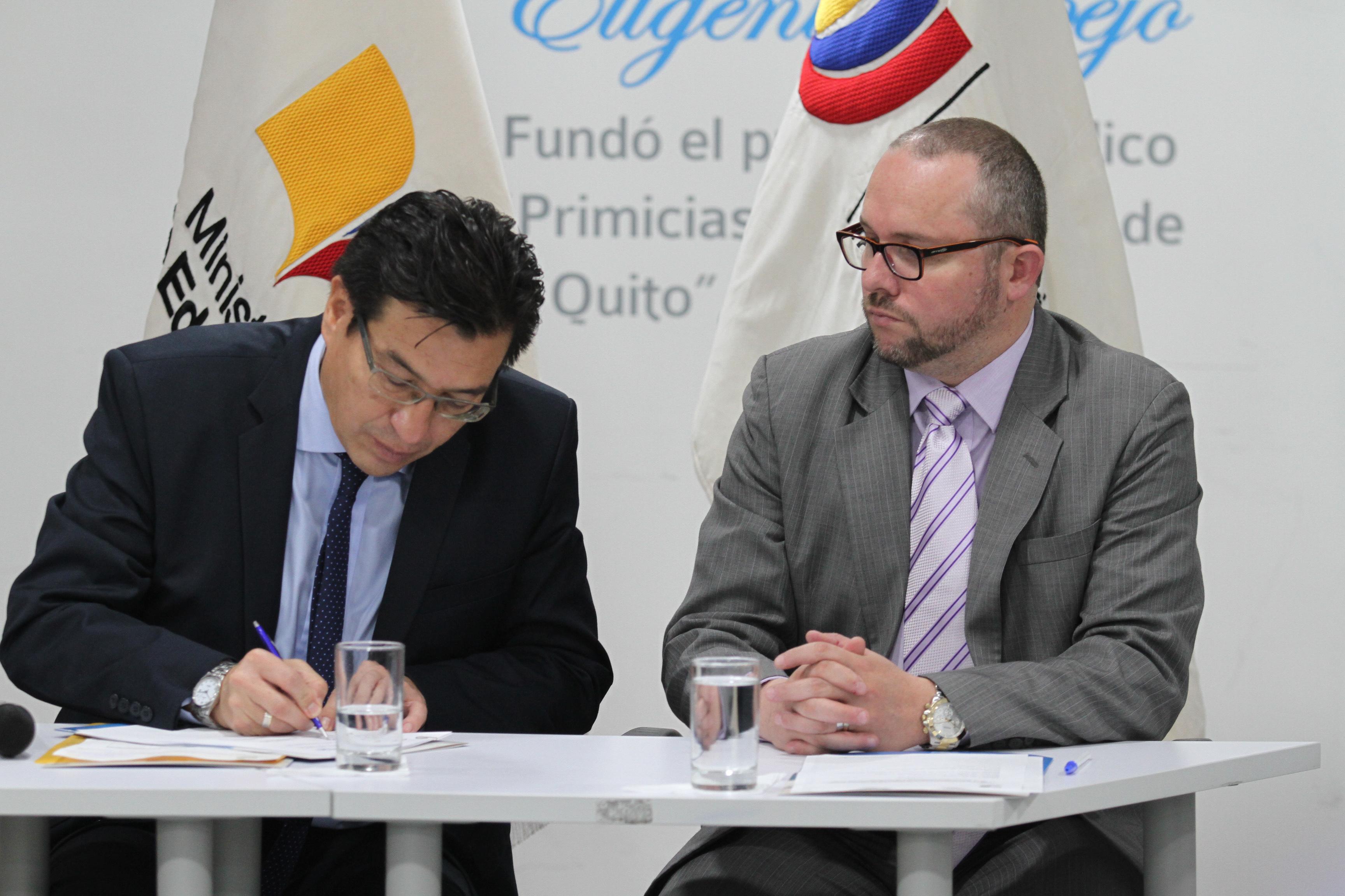Firma Convenio Macro de Cooperación Interinstitucional: MinEduc- Ministerio de Justicia, Consejo de la Judicatura y Fiscalía para garantizar espacios educativos libres de violencia