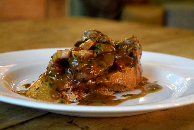Chicken Liver & Lardons on Toast at The Royal Oak in Twickenham | www.rachelphipps.com @rachelphipps
