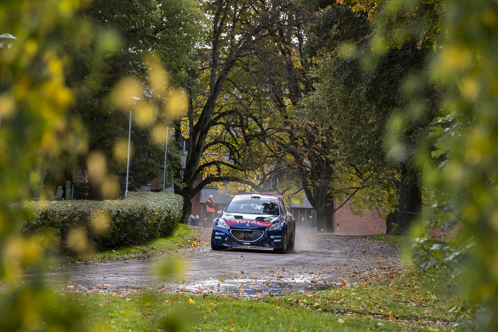 04 Lopez Pepe and Rozada Borja, Peugeot Rally Academy, Peugeot 208 T16, ERC Junior U28 action during the 2017 European Rally Championship ERC Liepaja rally,  from october 6 to 8, at Liepaja, Lettonie - Photo Gregory Lenormand / DPPI
