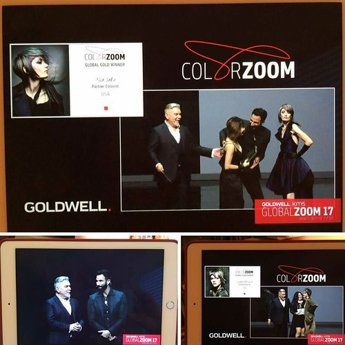 Congratulations ColorZoomer's bringing home #Gold and #Silver !!! #IAMGOLDWELL @triosalon @hairbyscott
